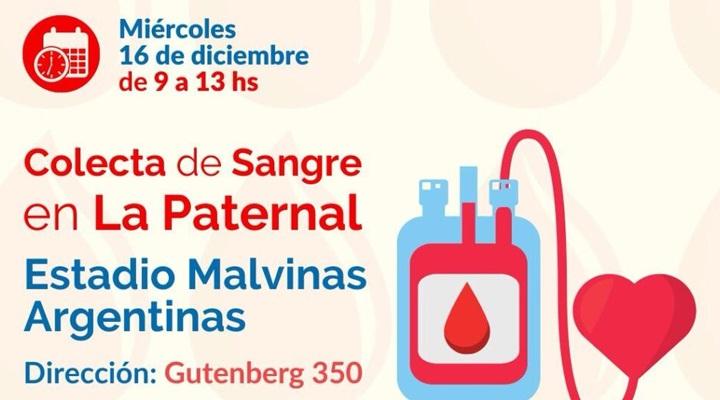 Colecta de sangre con Hemocentro en La Paternal